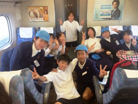新幹線の車中