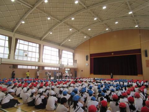 ⑦体育館左前(中から)