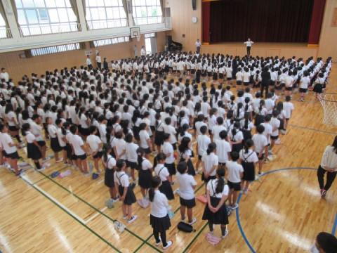 1学期 終業式  7月19日(金)