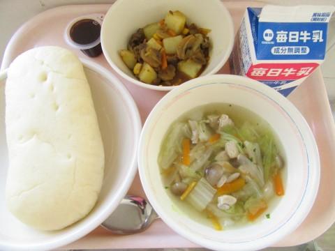 本日の給食(12月2日)オリーブパン